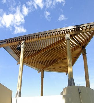 a pergolas made of wood - Big Easy Fences