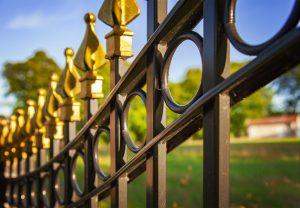 Metal rod iron fence - Big Easy Fences